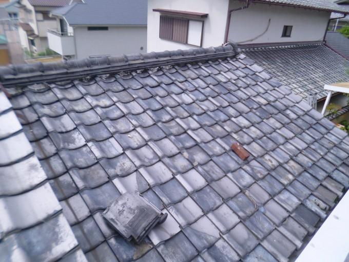 居宅屋根瓦補修 施工前